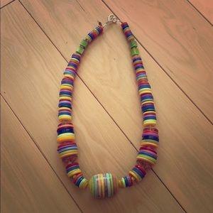 Unique buttons necklace